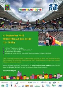Plakat Wohntag ISTAF 2015