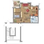 HeidekampEck 1,5-Zimmer-Wohnung ca. 48qm