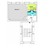 Q3A 1-Zimmer-Wohnung mit ca. 27qm