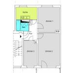Q3A 2,5-Zimmer-Wohnung mit 57qm