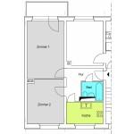 Q3A 2-Zimmer-Wohnung mit ca. 49qm
