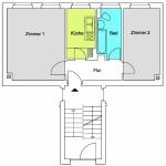 TB 1,5-Zimmer-Wohnung ca. 40qm