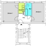 TB 2-Zimmer-Wohnung ca. 41qm