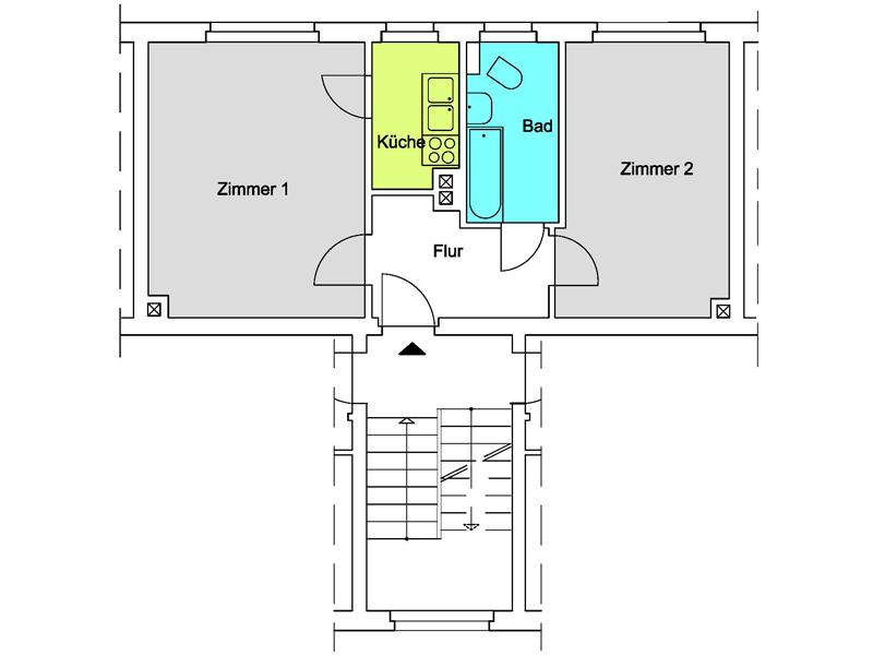 Grundriss wohnung 2 zimmer  Unsere Wohnungen