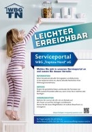 "Plakat Serviceportal der WBG ""Treptow Nord"" eG"