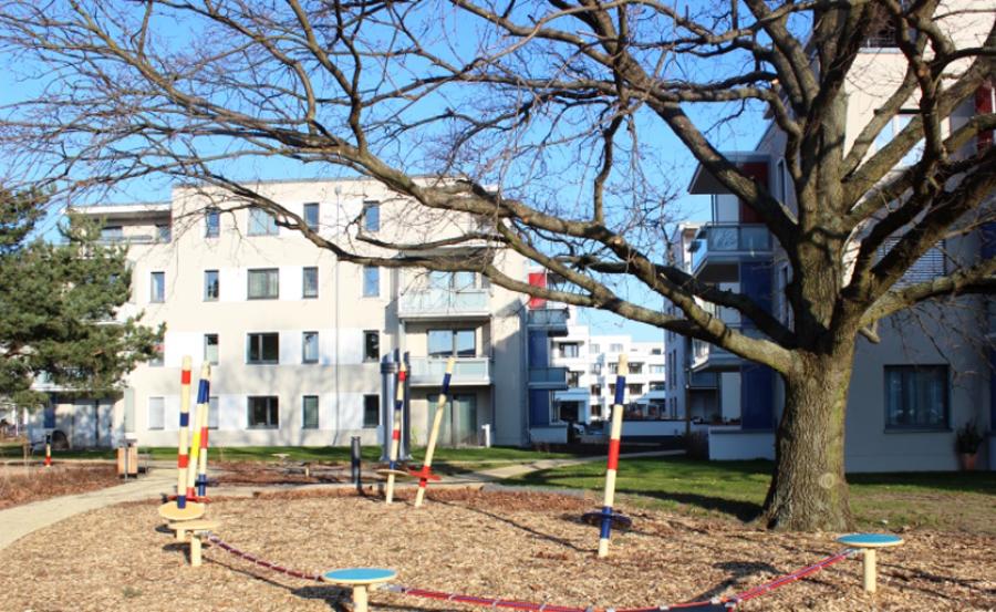 """WBG """"Treptow Nord"""": Ansicht vom Neubau HumboldtEck in Berlin-Adlershof"""