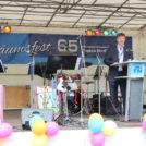 """Georg Petters, Vorstand der WBG """"Treptow Nord""""eG, auf dem 65-Jahre Jubiläumsfest"""