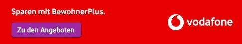 Vodafone Banner: Sparen mit BewohnerPlus, Link zu den Angeboten